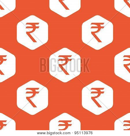 Orange hexagon rupee pattern