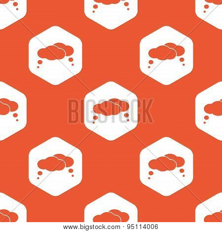 Orange hexagon thoughts pattern