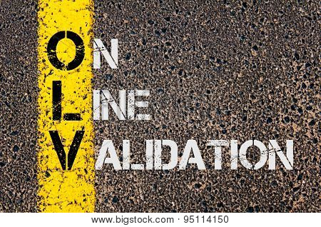 Business Acronym Olv As On Line Validation