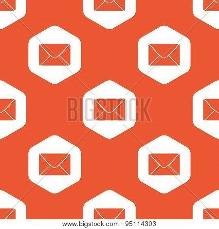 Orange hexagon letter pattern