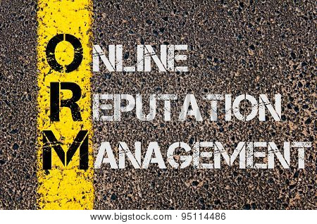 Business Acronym Orm As Online Reputation Management