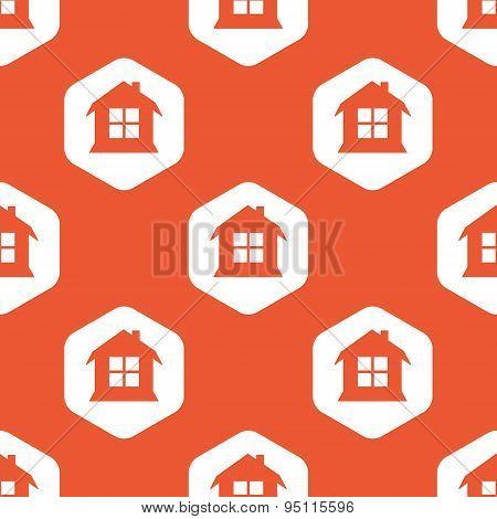 Orange hexagon house pattern