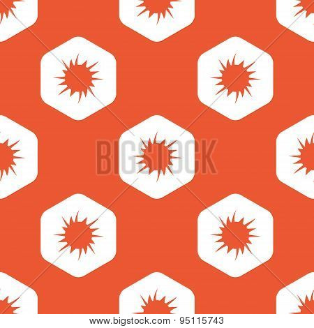 Orange hexagon starburst pattern