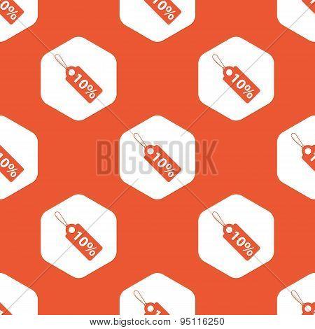 Orange hexagon discount pattern