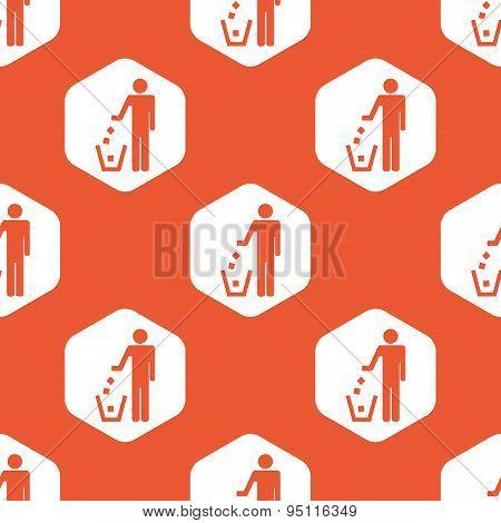 Orange hexagon recycling pattern