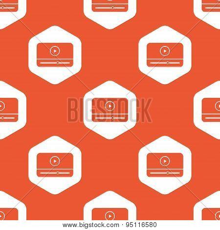 Orange hexagon mediaplayer pattern