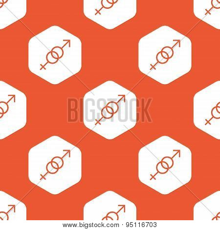 Orange hexagon gender pattern