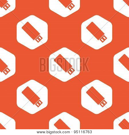 Orange hexagon USB stick pattern