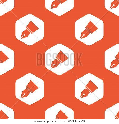 Orange ink pen nib pattern