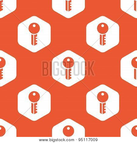 Orange hexagon key pattern