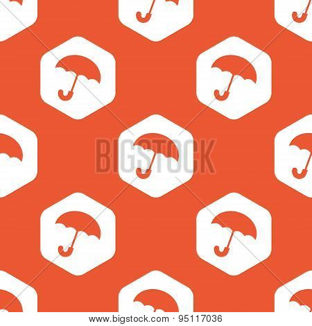 Orange hexagon umbrella pattern