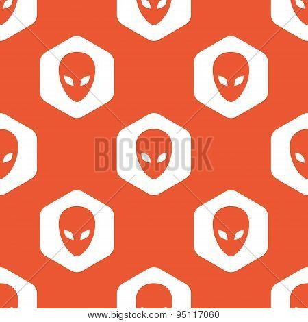 Orange hexagon alien pattern