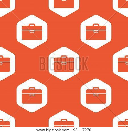 Orange hexagon briefcase pattern