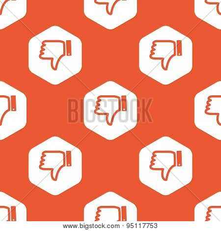 Orange hexagon dislike pattern