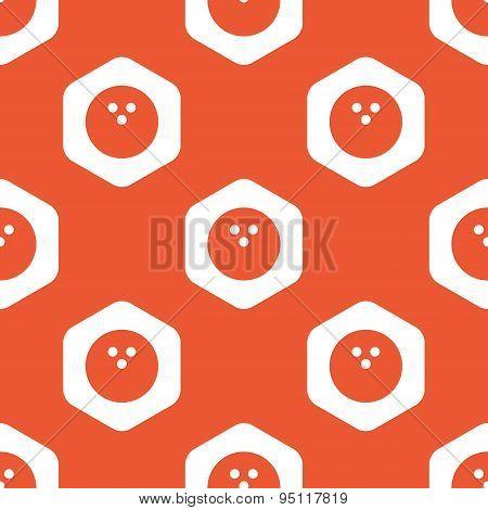 Orange hexagon bowling pattern