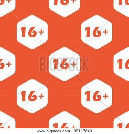 Orange hexagon 16 plus pattern