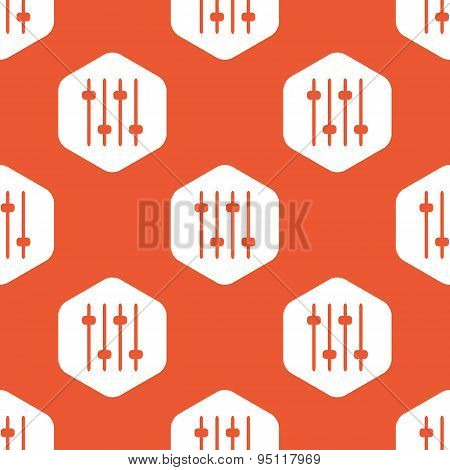 Orange hexagon faders pattern