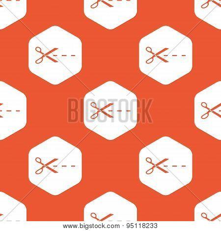 Orange hexagon cut pattern