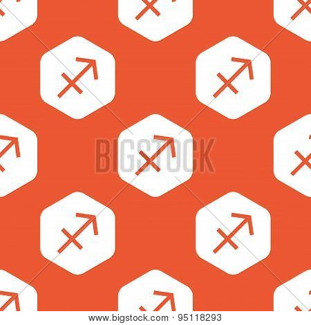 Orange hexagon Sagittarius pattern