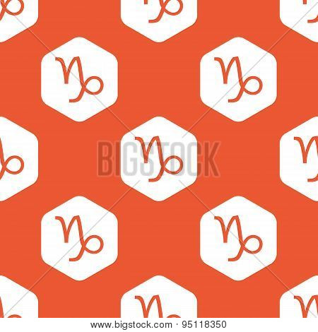Orange hexagon Capricorn pattern
