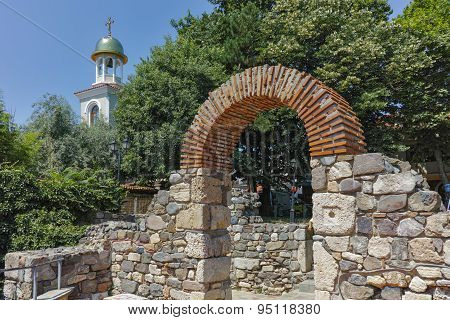 Remains of from Ancient Sozopol and the church of St. George