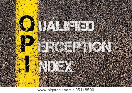 Business Acronym Qpi As Qualified Perception Index