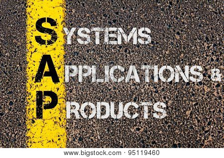 Business Acronym Sap As Systems Applications Products