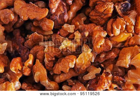 Fresh Walnuts Closeup