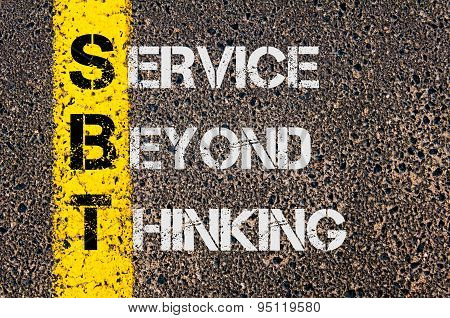 Business Acronym Sbt As Service Beyond Thinking