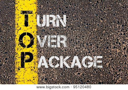 Business Acronym Top As Turn Over Package