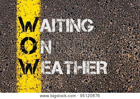 Business Acronym Wow As Waiting On Weather