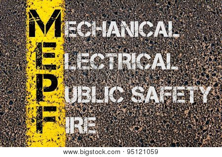Business Acronym Mepf As Mechanical Electrical Public Safety Fire