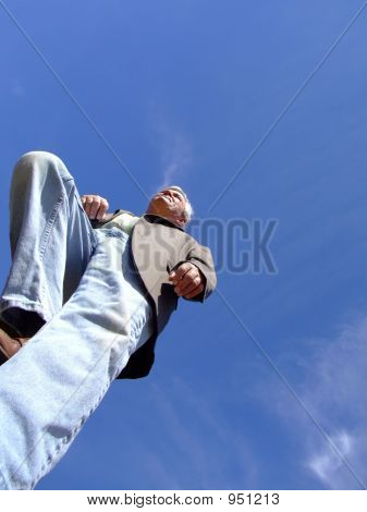 Senior Man Climbing