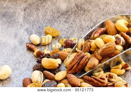 Mixed Nuts Healthy snack close up