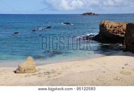 Empty White Sand Beach