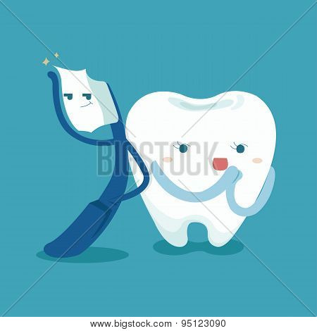 Smart toothbrush and cute tooth