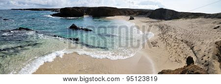 Panoramic Of White Sand Beach In Djeu