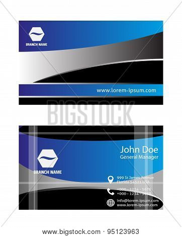 Vector blue business card