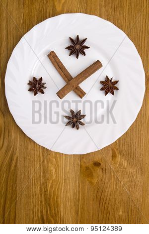 Styling Plates Under The Abstract Clock