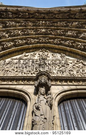 Relief Of Last Judgment On The Main Portal On The Cathedral Of Our Lady In Antwerp