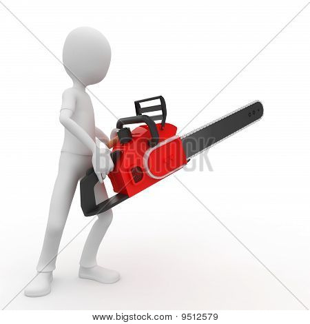 3D Man With Chainsaw