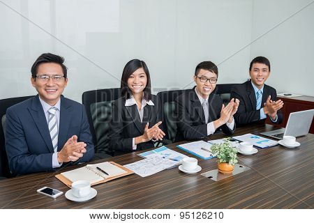Applauding Business Team