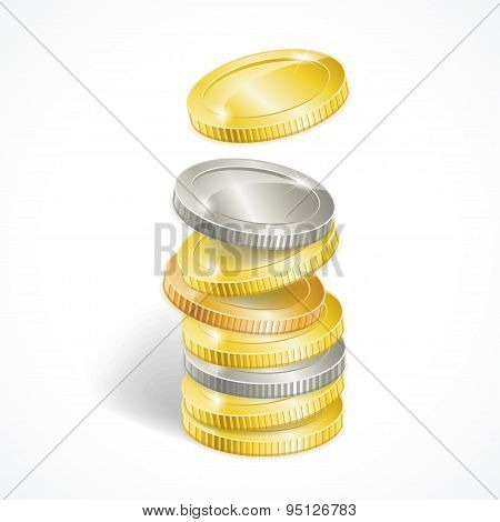 Vector Coin Stack