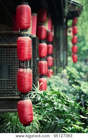 Chinese Lanterns On Houses