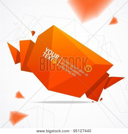 Vector modern geometric banner