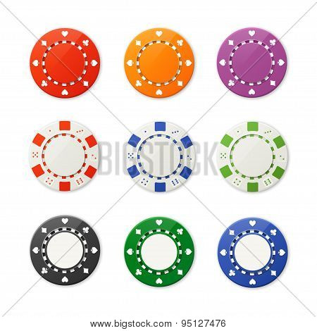 Vector poker chips set