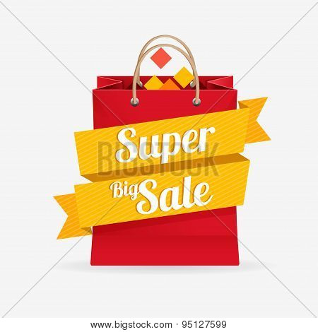Vector sale bag labels concept