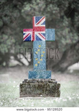 Gravestone In The Cemetery - Tuvalu