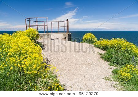 Seascape Viewing Platform On The Edge Of Cliff