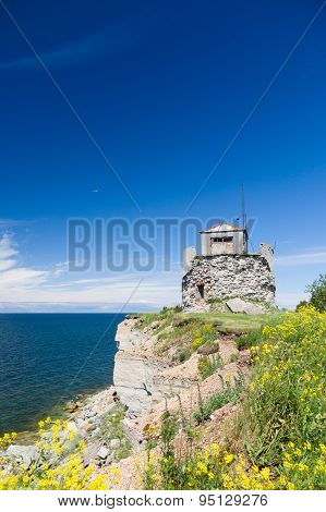 Riuned Building Of Old Pakri Lighthouse At Breakage, Estonia